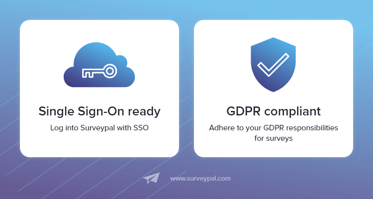 Surveypal for Zendesk is SSO-ready and GDPR compliant